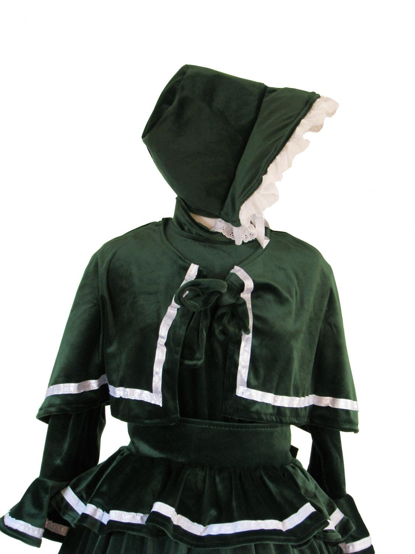 Ladies Victorian Carol Singer School Mistress Costume Size 14 16