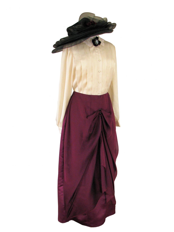 Ladies Edwardian Downton Abbey Titanic Costume Size 10 - 12 ...
