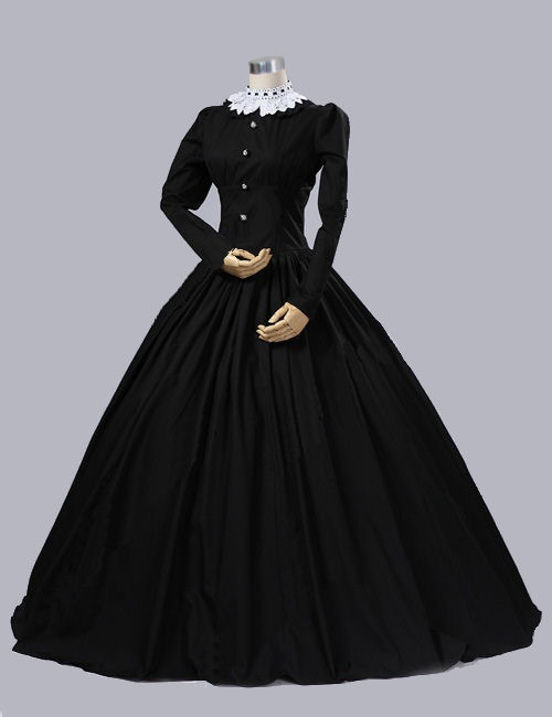 Ladies Victorian Queen Victoria Day Costume Size 14 - 16 Image