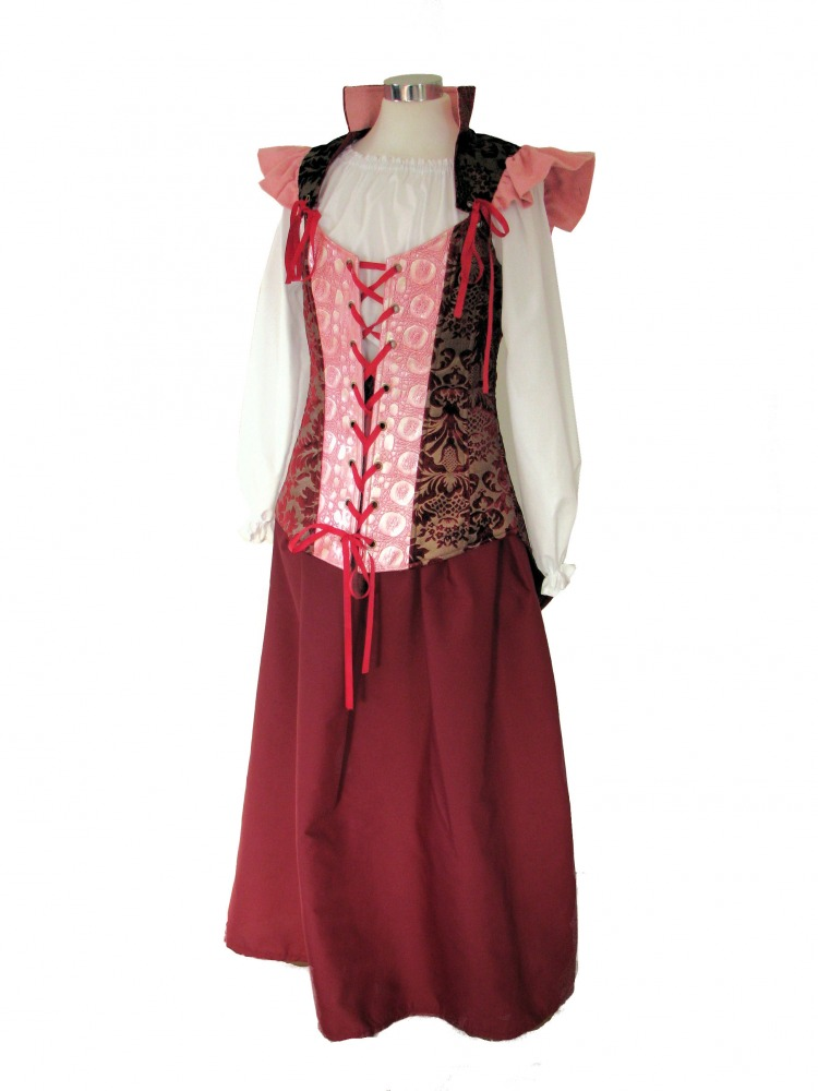 Ladies Medieval Wench Costume Victorian Nancy From Oliver