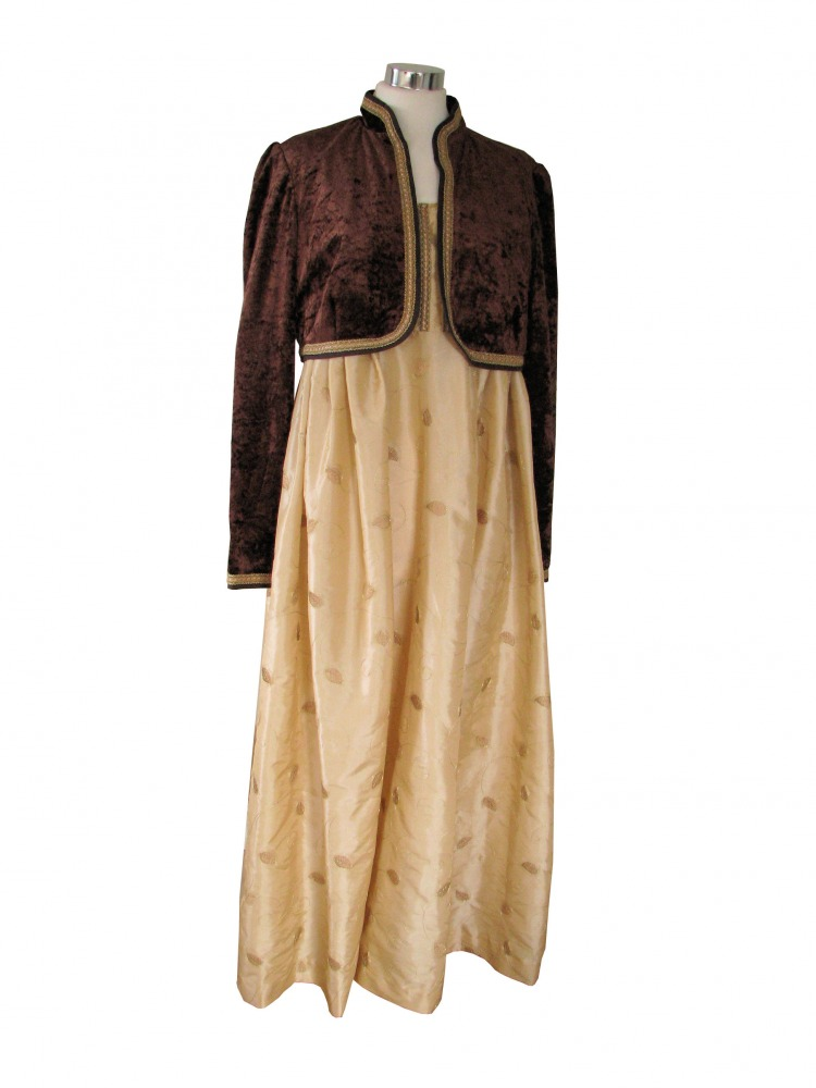 Ladies 19th Century Jane Austen Regency Day Evening Costume Size 12 - 14 Image