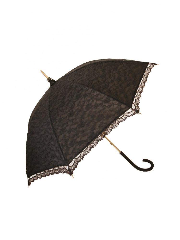 Ladies Black  Regency Parasol  Image