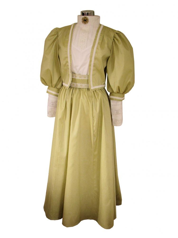 Ladies Edwardian Titanic Downton Abbey Tea Party Costume And Hat ...