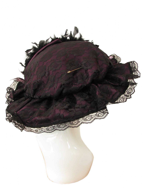 Ladies Deluxe Edwardian Downton Titanic Hat Image