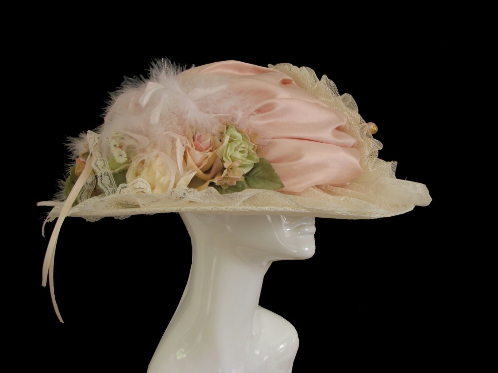 Ladies Deluxe Edwardian Downton Titanic Hat Image