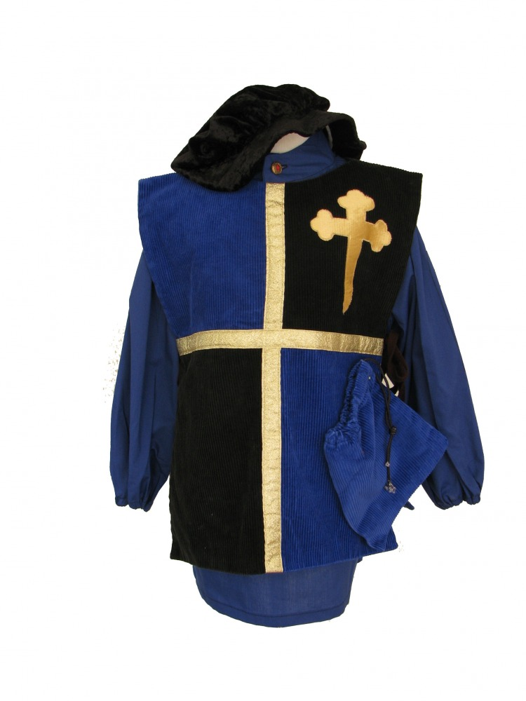 Boy's Medieval Peasant Tabard Costume Age 3 - 5 Years Image