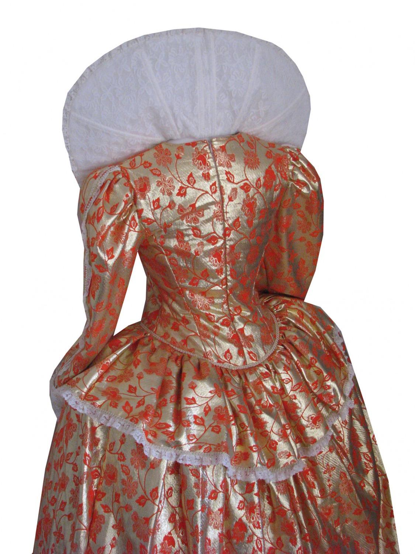 Ladies Elizabethan Tudor Queen Elizabeth 1 Costume Size 14 Image