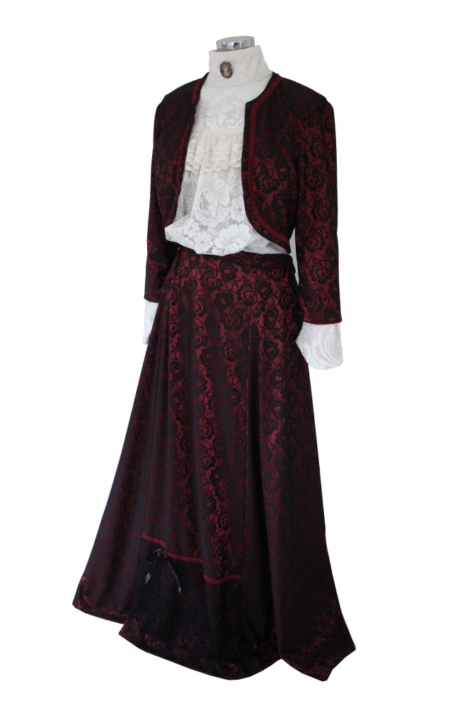 Ladies Edwardian Downton Abbey Titanic Costume Size 12 - 14 Image