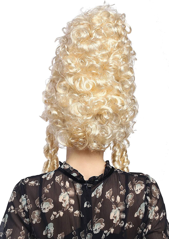 Ladies White Marie Antoinette Masked Ball Pompadour Georgian Wig Image