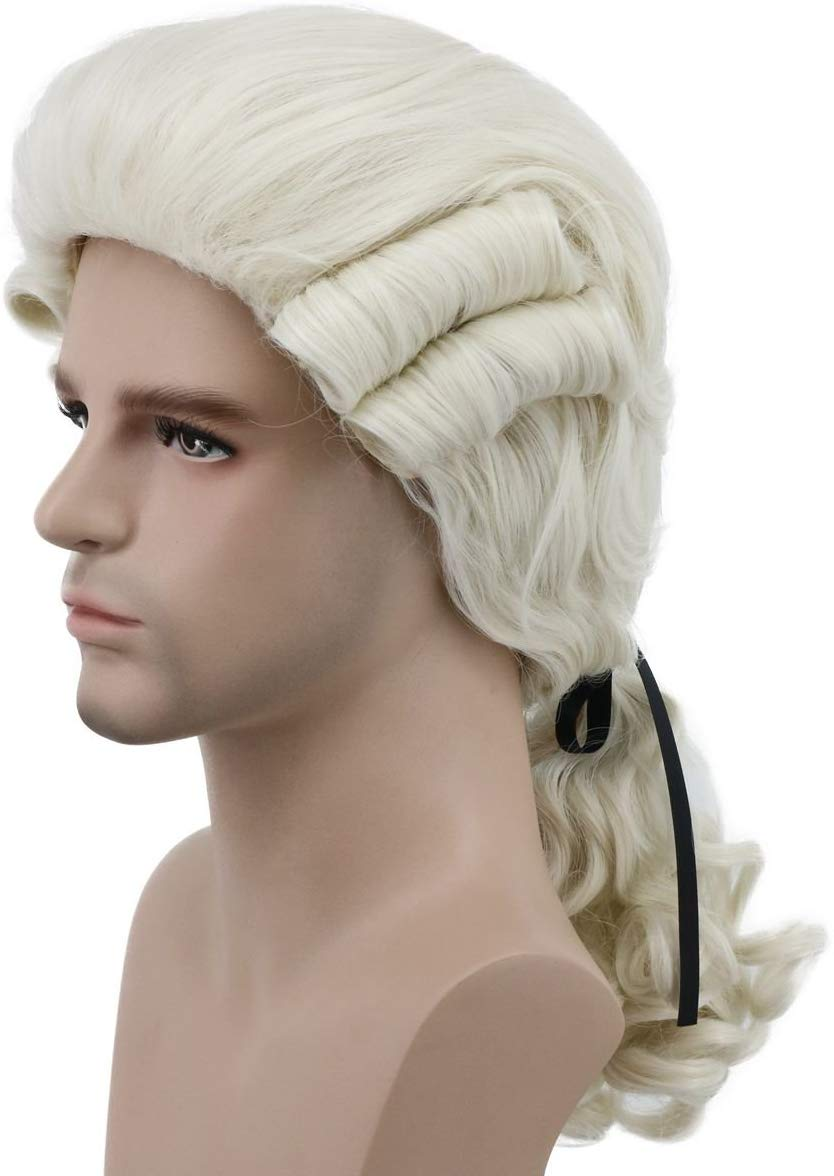 Men's Deluxe Masked Ball Georgian Wig Image