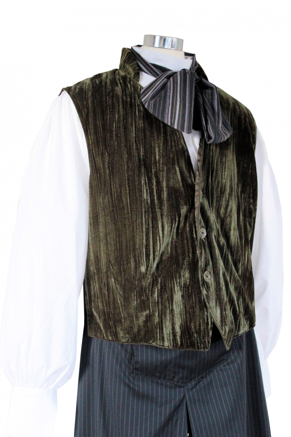 Men's Victorian Edwardian Working Class Poor Man Costume Sweeney Todd Size M-L Image