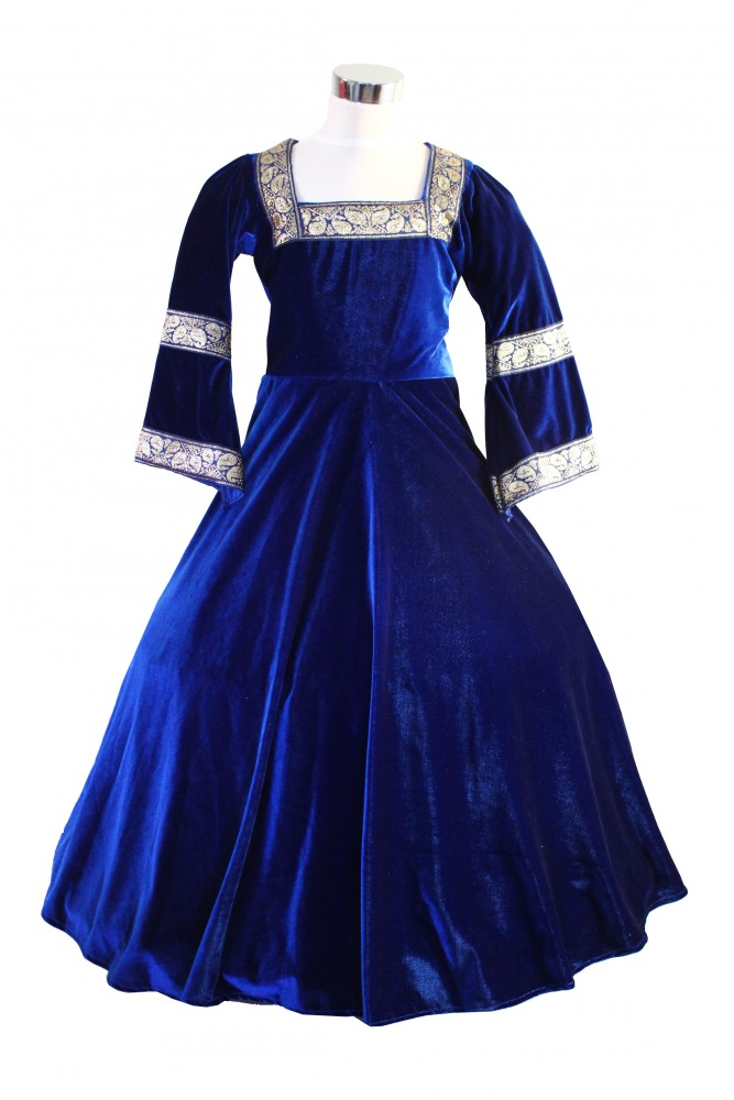 Girl\'s Deluxe Medieval Tudor Costume Age 9 - 11 Years - Complete ...