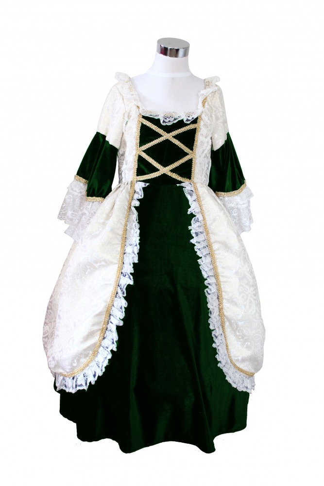 Girl's Deluxe Medieval Tudor Costume Age 7 - 9 Years Image