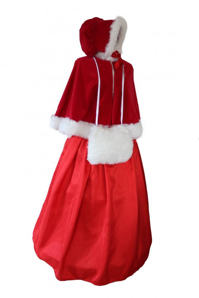 Ladies Victorian Dickensian Carol Singer School Mistress Day Costume