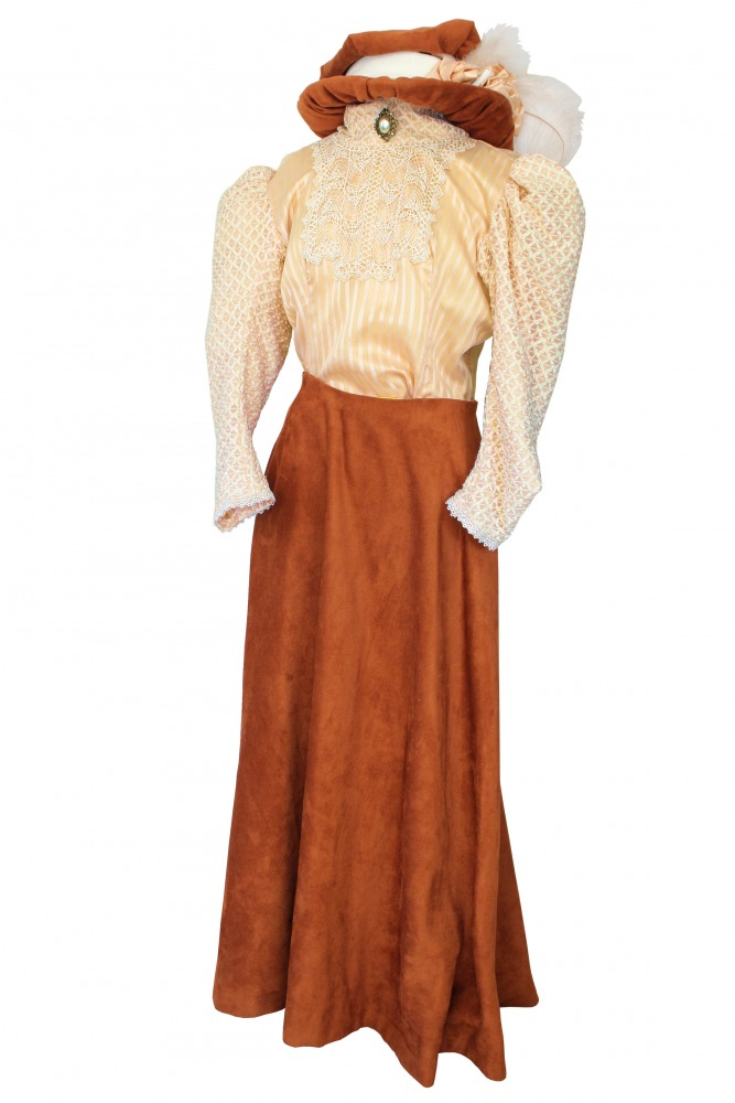 Ladies Edwardian Downton Abbey Titanic Costume Size 14 - 16 Image
