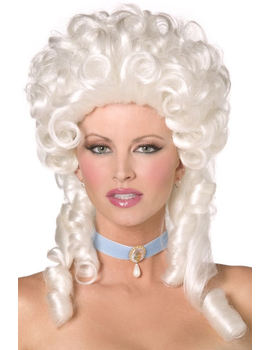 Ladies Marie Antoinette Masked Ball Georgian Wig Image