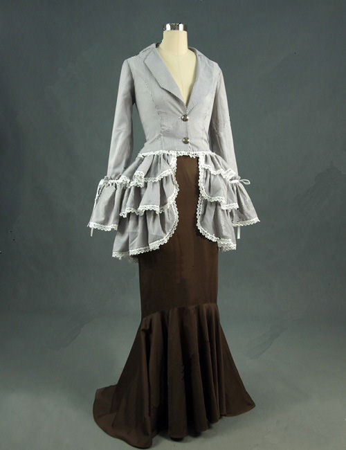 Ladies Edwardian Downton Abbey Titanic Costume Size S Image
