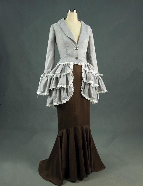 Ladies Edwardian Downton Abbey Titanic Costume Size S Image