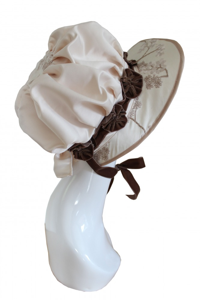 Ladies Jane Austen Regency Bonnet Image