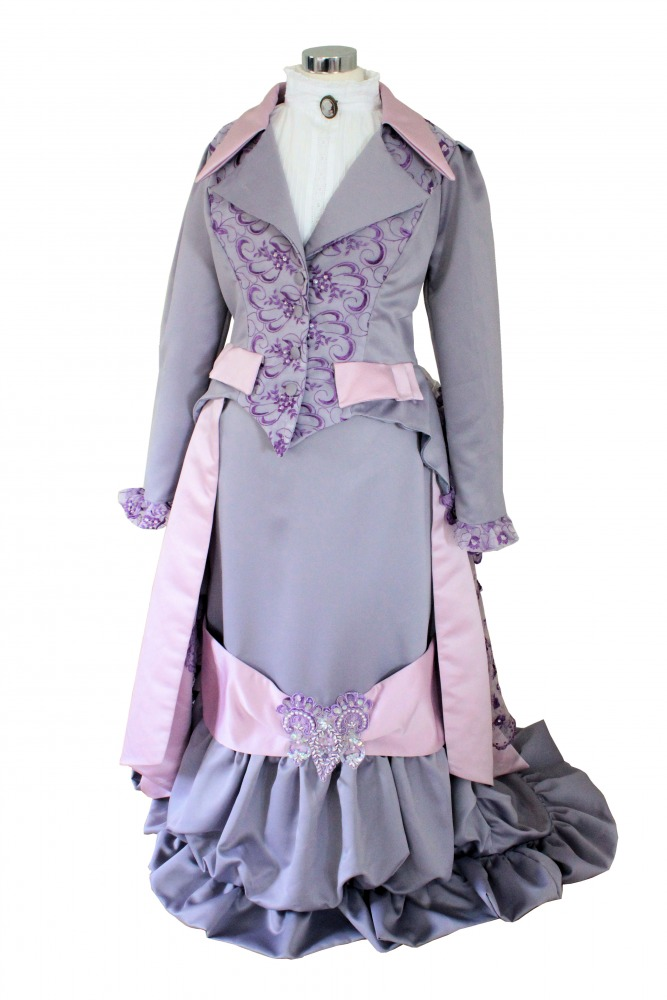 Ladies Deluxe Victorian Early Edwardian Day Costume Evening Ball Gown Size 14 - 16 Image