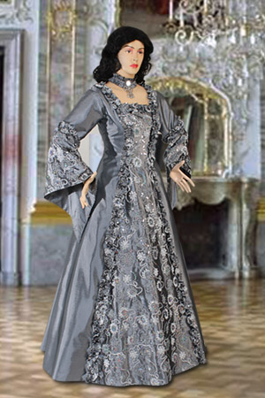 Ladies GIULIETTA Costume for Medieval Roman Greek Tudor Fancy Dress Size 14-18