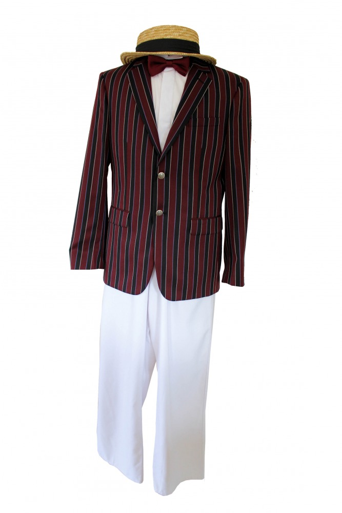 Men's Deluxe 1920s 1930s Victorian Edwardian Boating Jacket Costume  Image