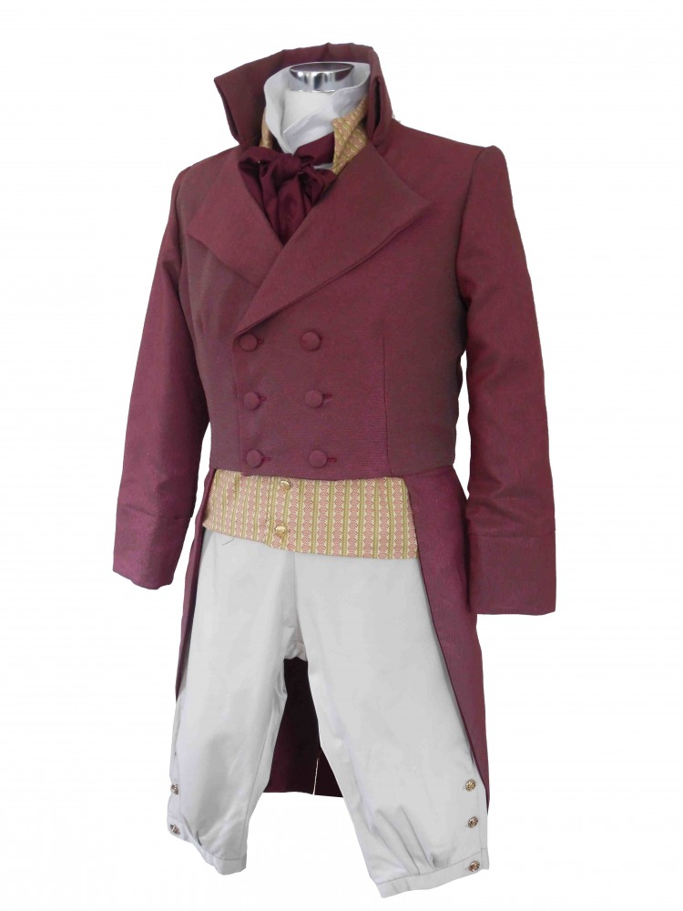 Deluxe Men's Regency Mr. Darcy Victorian Costume Size L Image