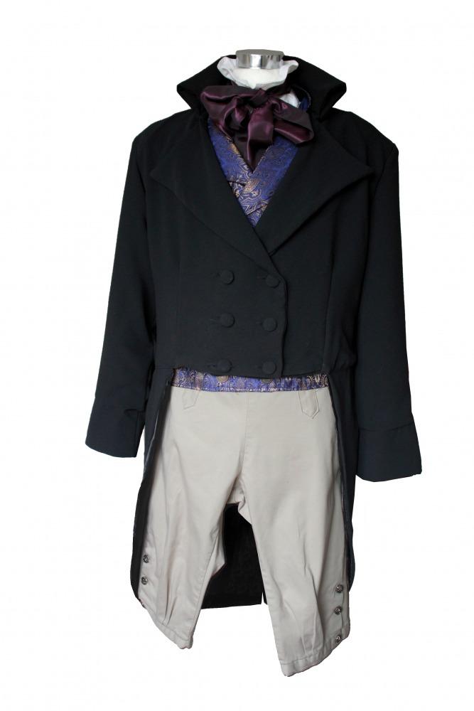 Deluxe Men's Regency Mr. Darcy Victorian Costume Size L/ XL Image