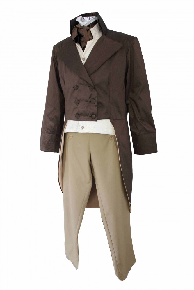 Blackfaux silk cravat Victorian Edwardian Georgian Regency costume fancy dress