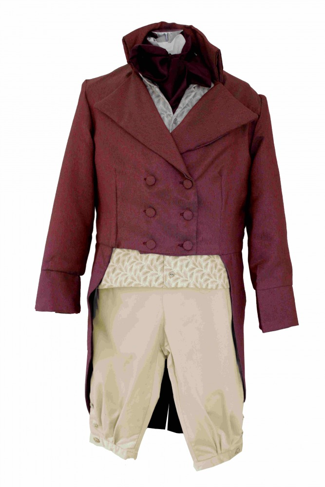 Deluxe Men's Regency Mr. Darcy Victorian Costume Size L/XL Image