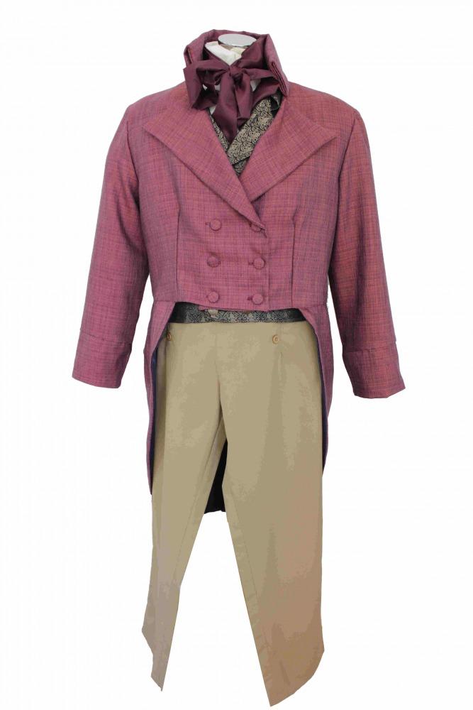 Deluxe Men's Regency Mr. Darcy Victorian Costume Size XL XXL Image