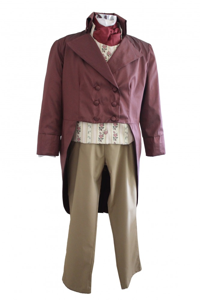 Deluxe Men's Regency Mr. Darcy Victorian Costume Size XL Image