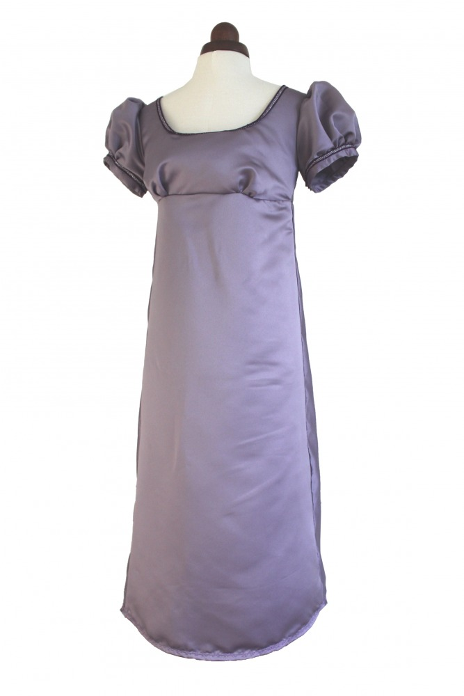 Ladies/ Older girl's 19th Century Jane Austen Regency Evening Ball Gown Costume Size 8 Petite Image