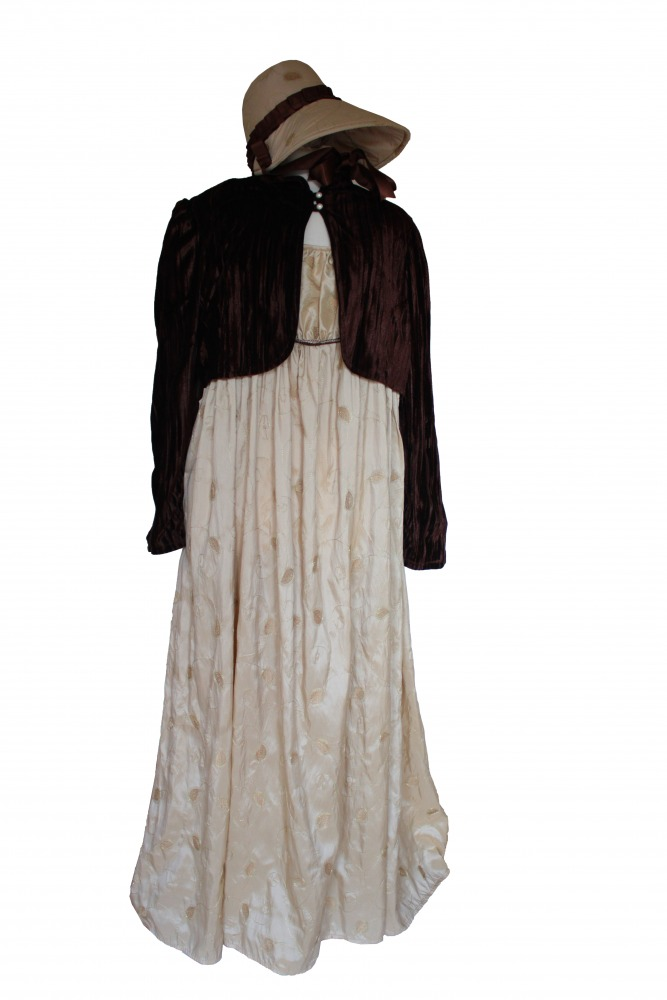 Ladies 18th 19th Century Regency Jane Austen Costume Evening/ Day Gown Size 24 - 26 Image
