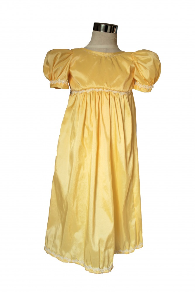 Girl's Regency Jane Austen Costume Age 3 - 4 Years Image