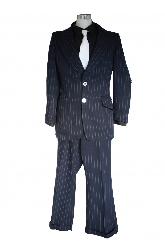 Mens 1920s 1930s Gangster Blues Brothers Costume Size S Image