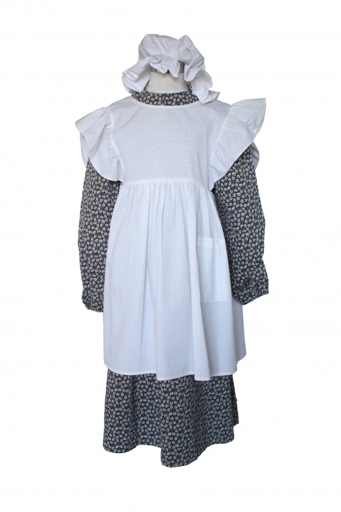 Girl's Victorian Costume And Apron Age 9-10 years Image