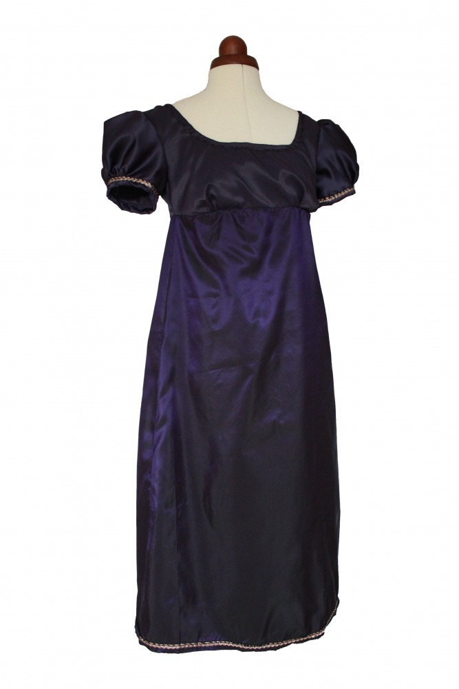 Ladies/ Older Girl's Petite Regency Jane Austen Evening Gown Size 8 - 10 Image
