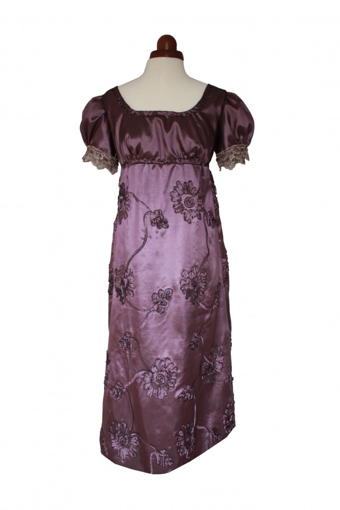 Ladies 18th 19th Regency Jane Austen Costume Evening Ball Gown Petite Size 12 - 14 Image