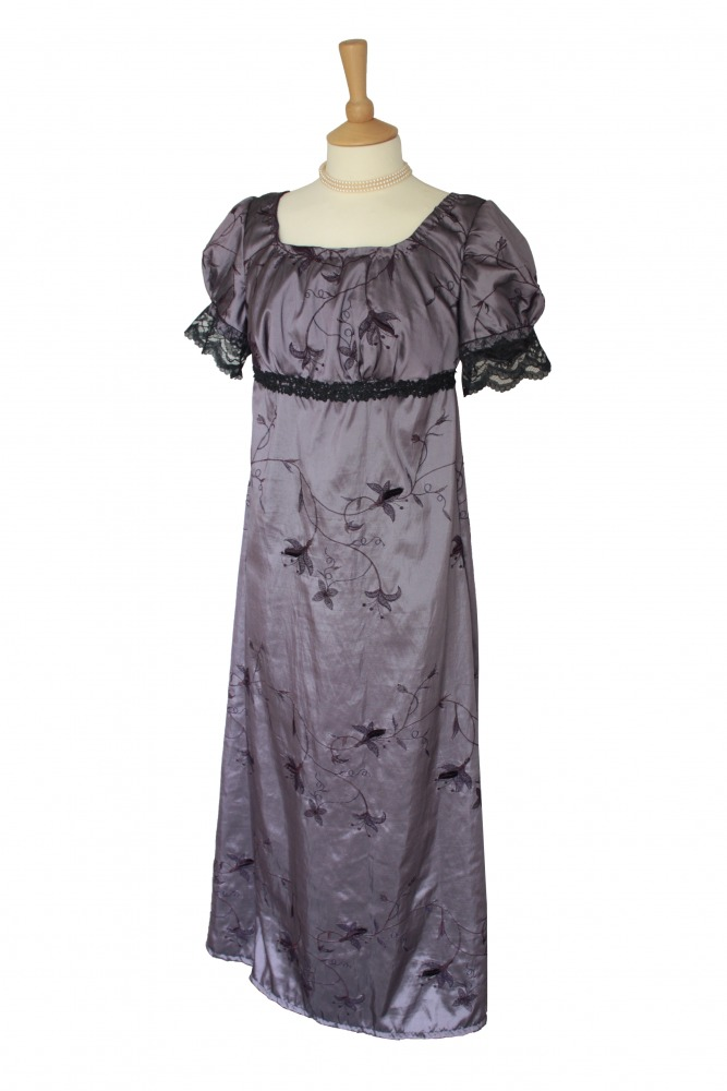 Ladies 18th 19th Regency Jane Austen Petite Costume Evening Ball Gown Size 12 - 14 Image