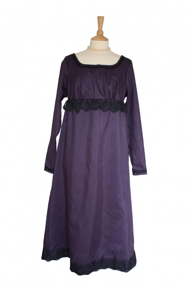 Ladies 18th 19th Regency Jane Austen Costume Evening Ball Gown Petite Size 16 - 18 Image