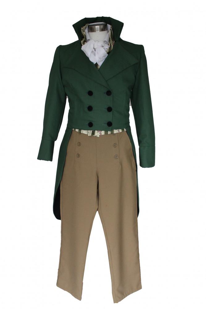 Deluxe Men's Regency Mr.Darcy Victorian Costume Size S M  Image