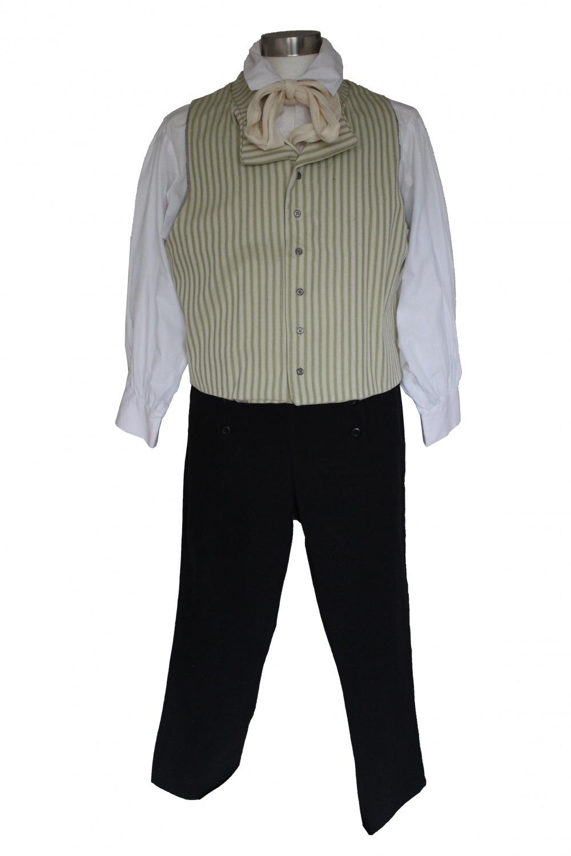 Deluxe Men's Regency Mr.Darcy Victorian Costume Size L XL Image