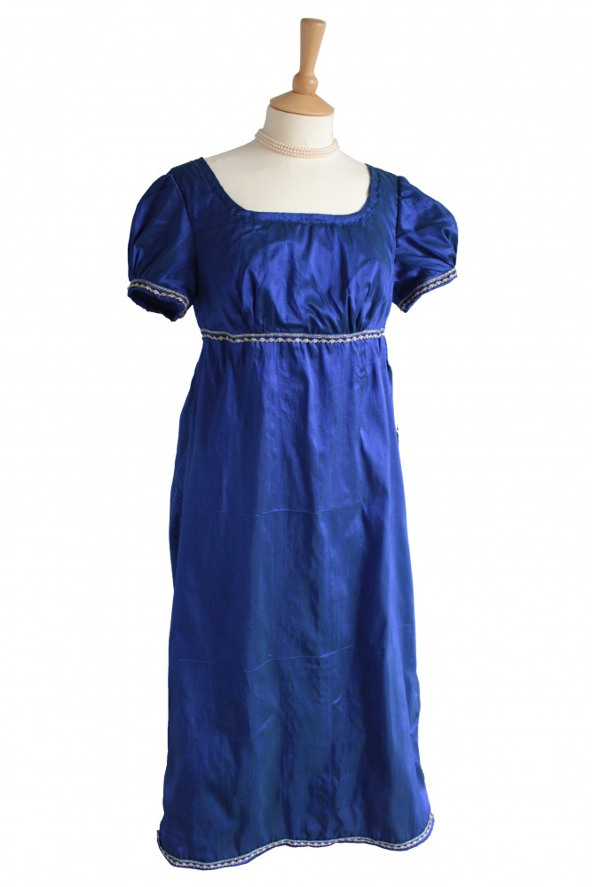 Ladies/ Older Girl's 19th Century Petite Jane Austen Regency Day Gown Costume Size 10 - 12 Image