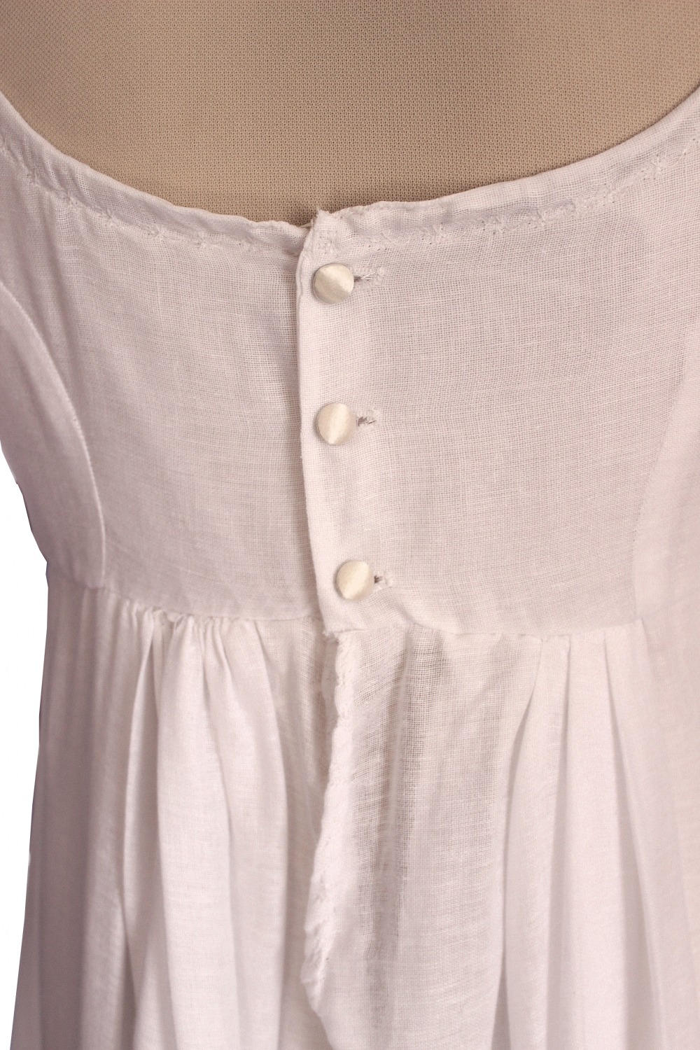 For Sale Ladies 19th Century Jane Austen Elizabeth Bennet Regency Day Gown Dress Costume Size 12 - 14 Long Sleeves Image