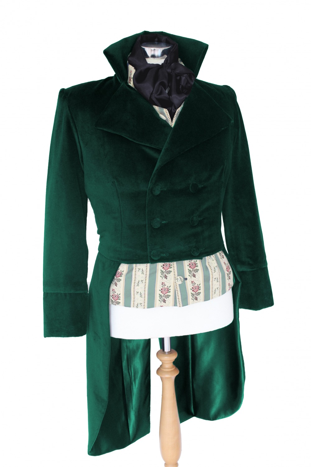For Sale Made To Order Men's Handmade Velvet Deluxe Mr.Darcy Regency Victorian Tailcoat Made To Order XS, S, M, L, XL  Image