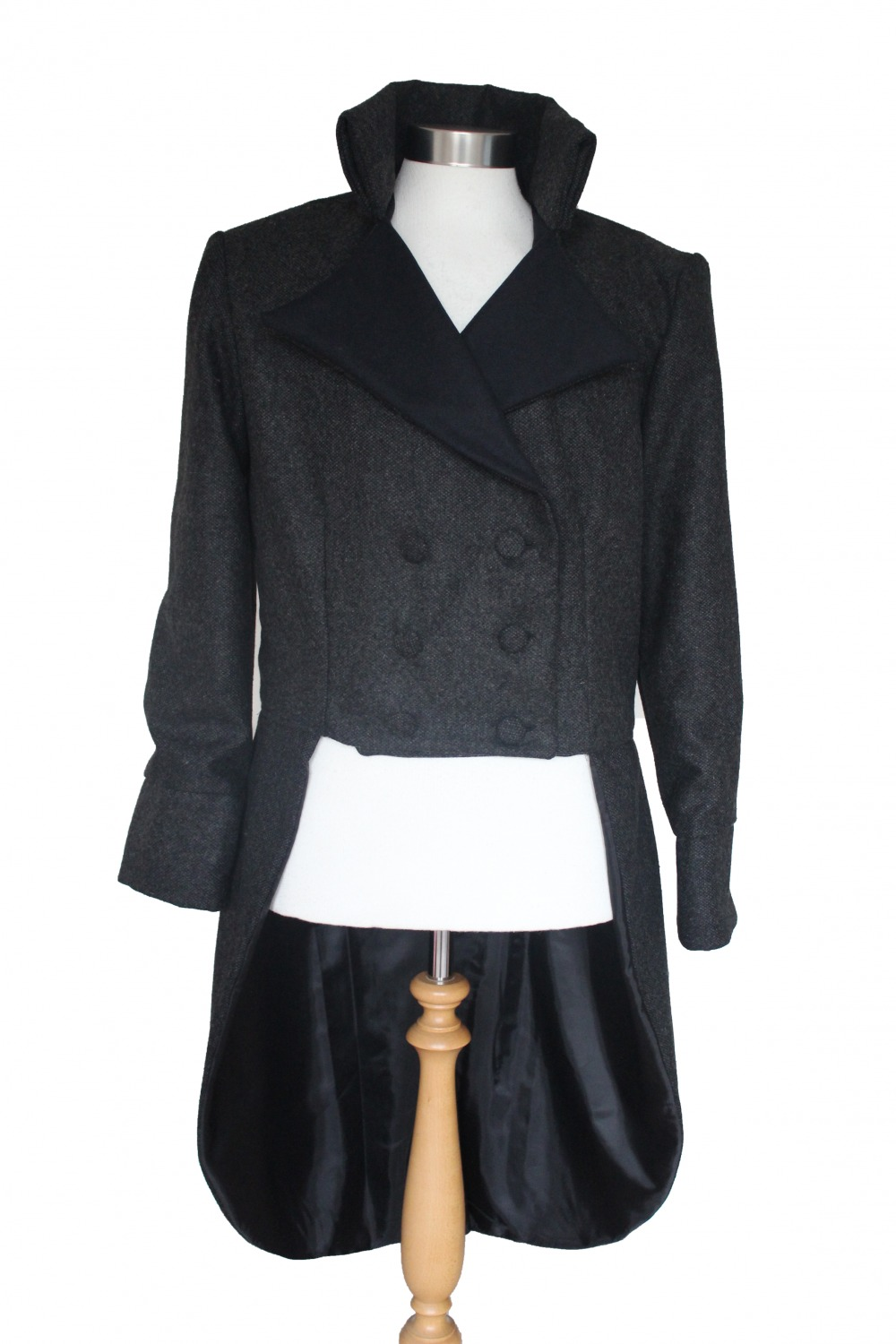 For Sale Made To Order Men's Handmade Woolen Deluxe Mr.Darcy Regency Victorian Tailcoat Made To Order XS, S, M, L, XL Image