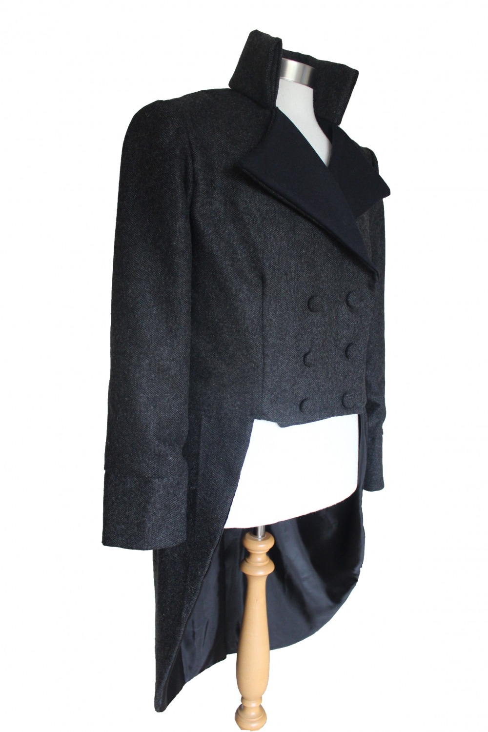 For Sale Men's Handmade Woolen Deluxe Mr.Darcy Regency Victorian Tailcoat Size Medium Ready To Go! Image