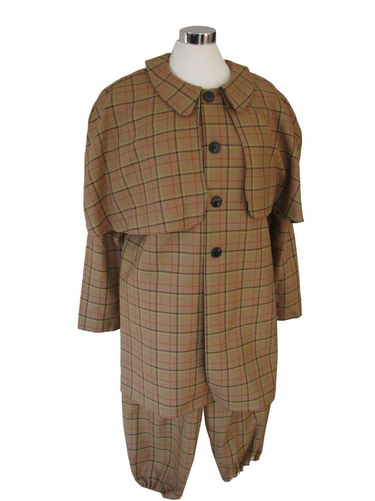 Small Adult Older Boys Sherlock Holmes Victorian Edwardian Costume Image