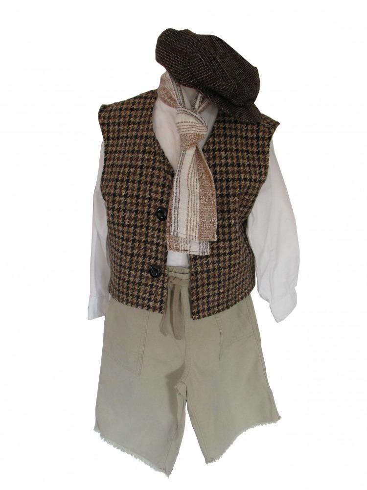 Boys Victorian Edwardian 'Oliver' Fancy Dress Costume Image
